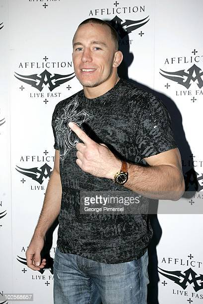 UFC Fighter Georges StPierre attends the Affliction launch at Buonanotte on May 7 2010 in Montreal Quebec