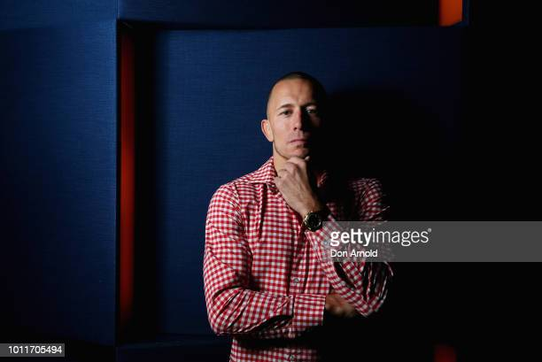 UFC fighter Georges StPierre poses just after a press conference at The Star on August 6 2018 in Sydney Australia