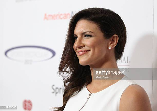 Fighter Gina Carano arrives at the 27th Anniversary Sports Spectacular benefiting Cedars-Sinai Medical Genetics Institute at the Hyatt Regency...