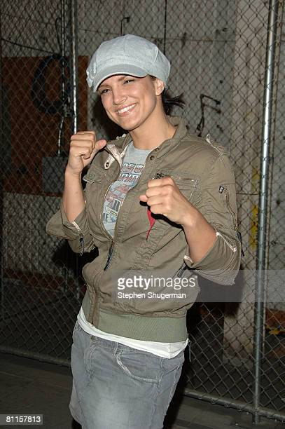 MMA fighter Gina Carano attends CBS's Elite XC Saturday Night Fights Press Conference at CBS Radford Studios on May 19 2008 in Studio City California