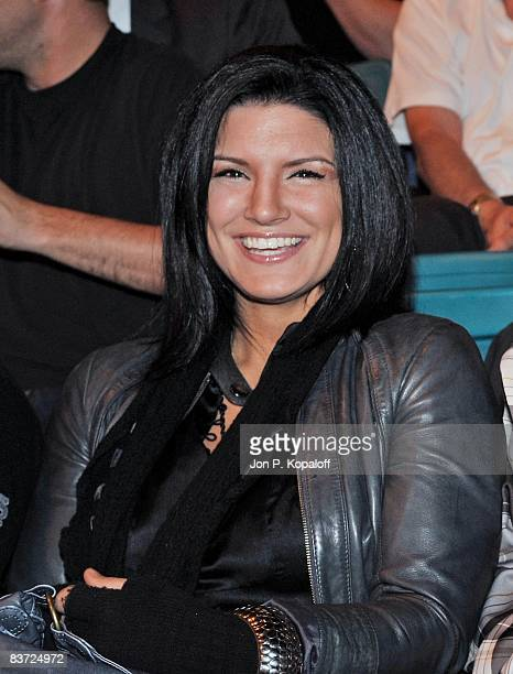 Fighter Gina Carano attends UFC 91: Couture vs. Lesnar at the MGM Garden Arena on November 15, 2008 in Las Vegas, Nevada.