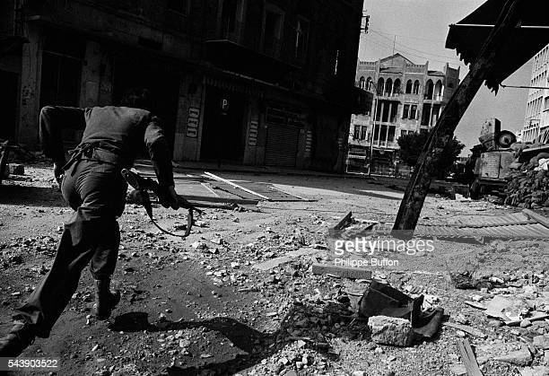 Fighter in West Beirut.
