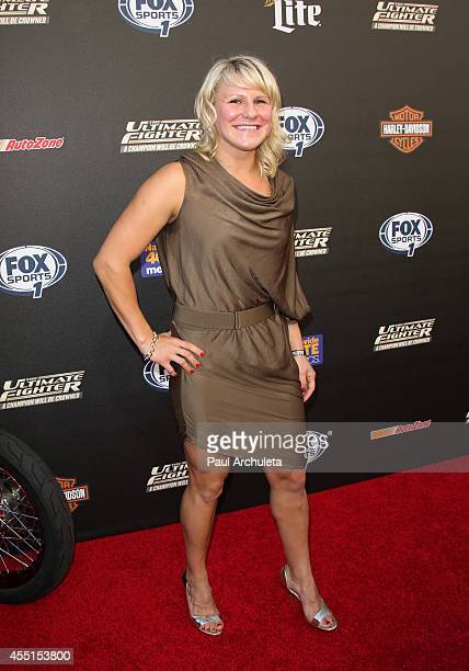 Fighter Justine Kish attends FOX Sports 1's 'The Ultimate Fighter' season premiere party at Lure on September 9 2014 in Hollywood California