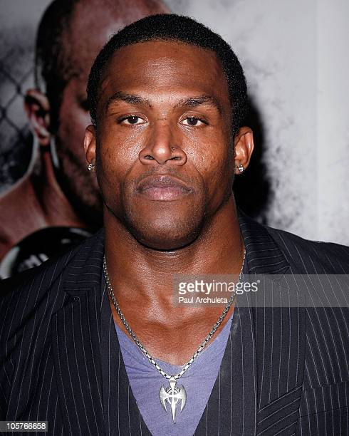 Fighter Kevin Randleman arrives at the EA Sports MMA video game launch party at The Highlands club in the Hollywood Highland Center on October 19...