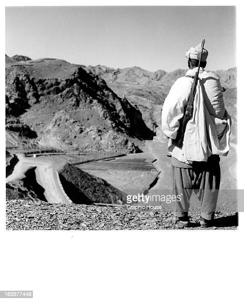 Fighter looking over Khyber Pass in Afghanistan 1955