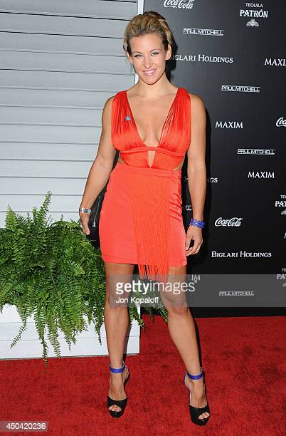 Fighter Miesha Tate arrives at the MAXIM Hot 100 Celebration Event at Pacific Design Center on June 10, 2014 in West Hollywood, California.