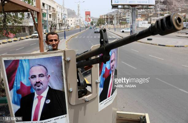 Fighter of the UAE-trained Security Belt Force, dominated by backers of the the Southern Transitional Council which seeks independence for south...