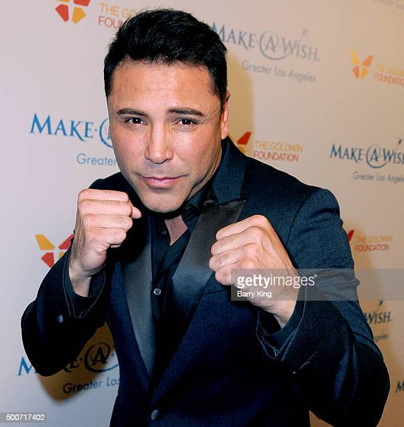 Fighter Oscar De La Hoya attends the MakeAWish Greater Los Angeles Annual Wishing Well Winter Gala at the Beverly Wilshire Four Seasons Hotel on...