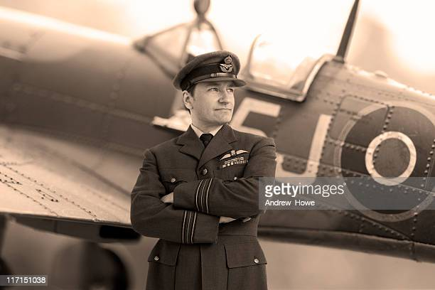 wwii fighter pilot - british military stock pictures, royalty-free photos & images