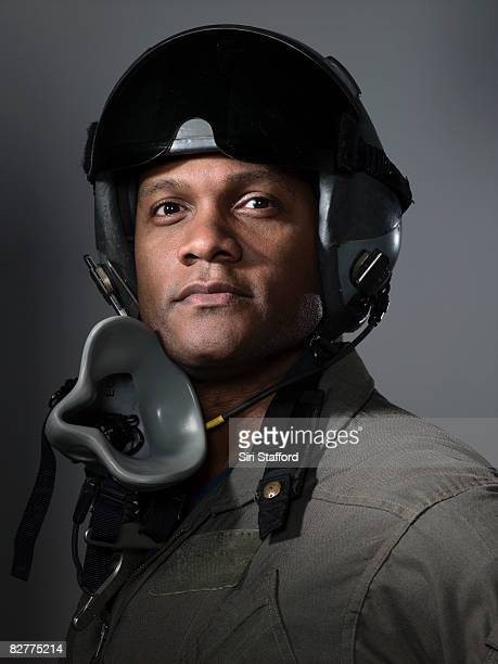 fighter pilot portrait, close-up
