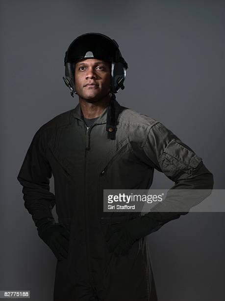 portrait de pilote de chasse,