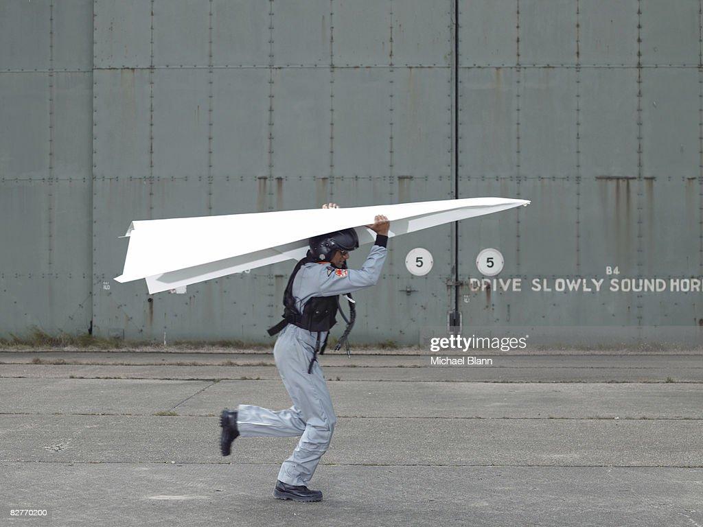 fighter pilot testing plane : Stock Photo