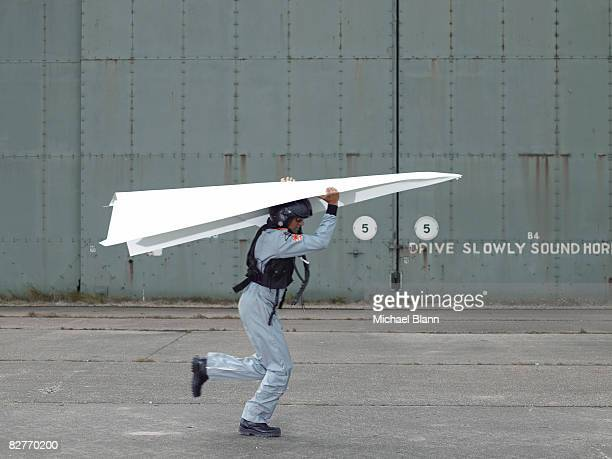 fighter pilot testing plane - practical joke stock photos and pictures