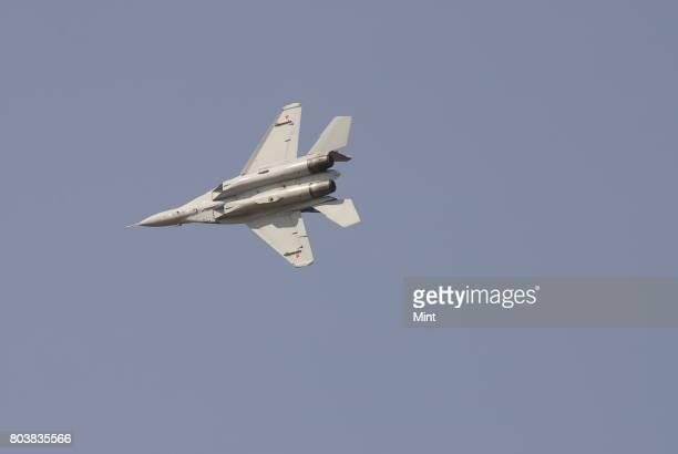 Fighter plane MIG 35 at Aero India 2009 Asias premier air show at Air Force station Yelahanka in Bangalore Demand for Indian aerospace products and...