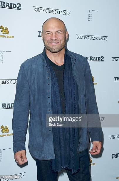 UFC fighter Randy Couture arrives at Sony Pictures Classic The Raid 2 Los Angeles premiere at Harmony Gold Theatre on March 12 2014 in Los Angeles...