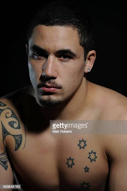 Fighter Robert Whittaker poses for a photograph after the UFC Brisbane FIT Master Class on December 6, 2013 in Brisbane, Australia.