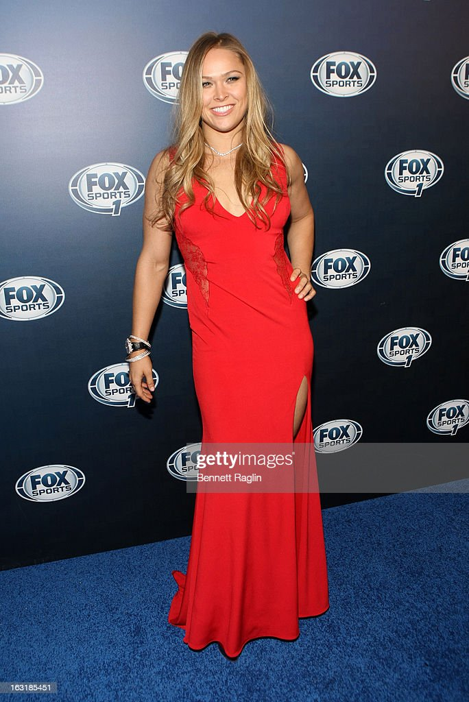 UFC fighter Ronda Rousey attends the 2013 Fox Sports Media Group Upfront after party at Roseland Ballroom on March 5, 2013 in New York City.