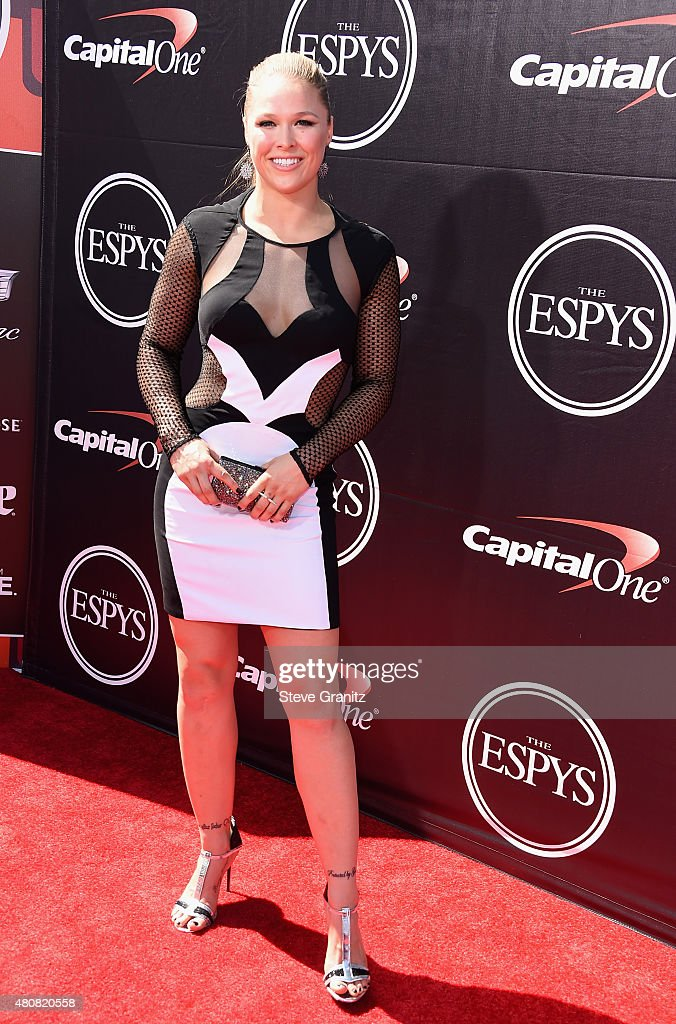 UFC fighter Ronda Rousey attends The 2015 ESPYS at Microsoft Theater on July 15, 2015 in Los Angeles, California.
