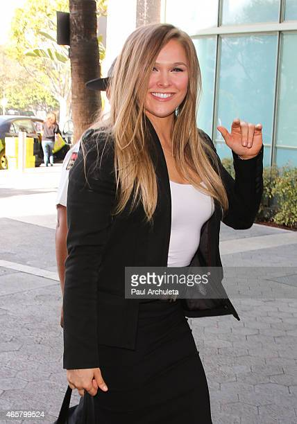 Fighter Ronda Rousey is seen at Universal CityWalk on March 10 2015 in Los Angeles California
