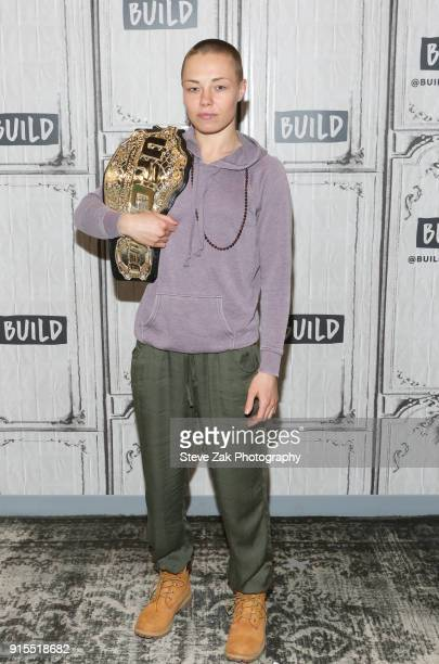 MMA fighter Rose Namajunas attends Build Series to discuss UFC at Build Studio on February 7 2018 in New York City