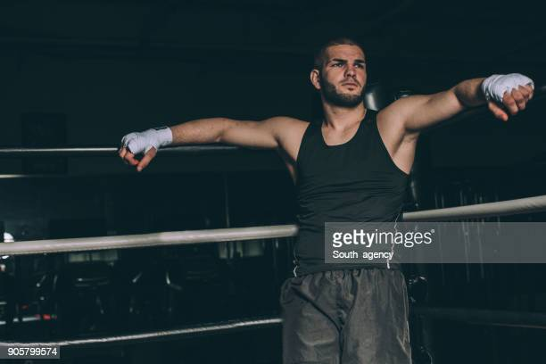 Fighter standing in the boxing ring