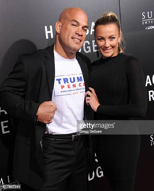 MMA fighter Tito Ortiz and Amber Nichole Miller arrive at the screening of Summit Entertainment's Hacksaw Ridge at Samuel Goldwyn Theater on October...