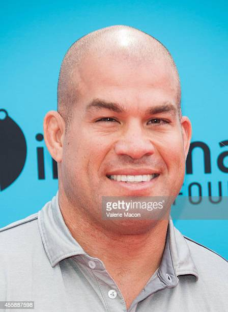 Fighter Tito Ortiz arrives at the premiere of Premiere Of Focus Features' The Boxtrolls at Universal CityWalk on September 21 2014 in Universal City...