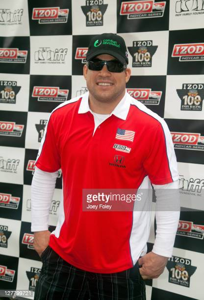 UFC Fighter Tito Ortiz attends the celebrity golf tournament during the 100th Anniversary Indianapolis 500 at Indianapolis Motor Speedway on May 28...