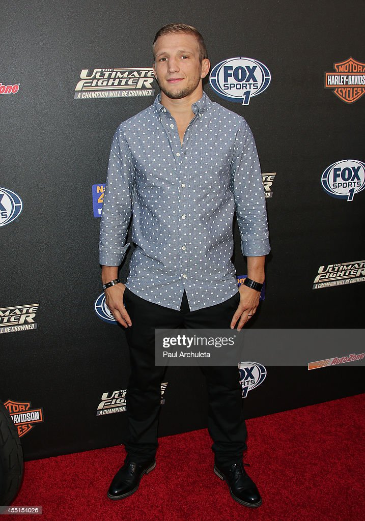 Fighter TJ Dillashaw attends FOX Sports 1's 'The Ultimate Fighter' season premiere party at Lure on September 9, 2014 in Hollywood, California.