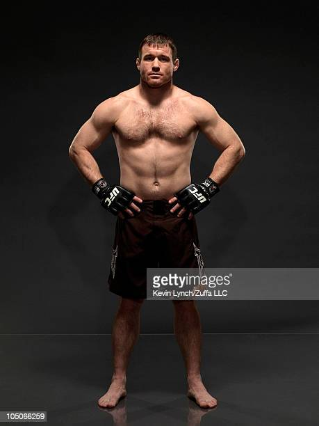 UFC fighter UFC fighter Matt Hughes poses during a portrait shoot on February 2 2007 in Las Vegas Nevada