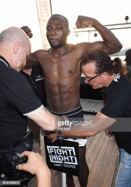 Fighter Umar Ssemata from Ouganda attend the Fight Night Weighing Party at La Bouillabaisse Saint Tropez on August 3 2017 in SaintTropez France