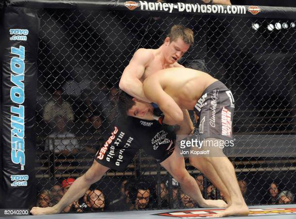 UFC fighters CB Dollaway fighting Jesse Taylor at the UFC Light Heavyweight Fight Anderson The Spider Silva vs James The Sandman Irvin The UFC's...