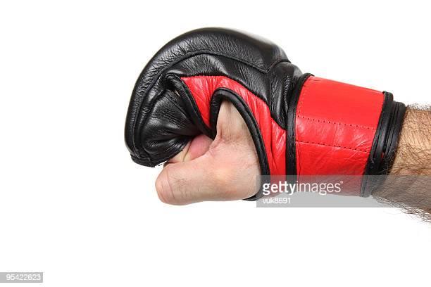 MMA fighter's fist