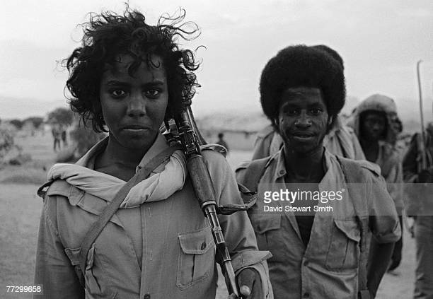 fighters in Eritrea in northeast Africa during the Eritrean War of Independence 5th December 1989