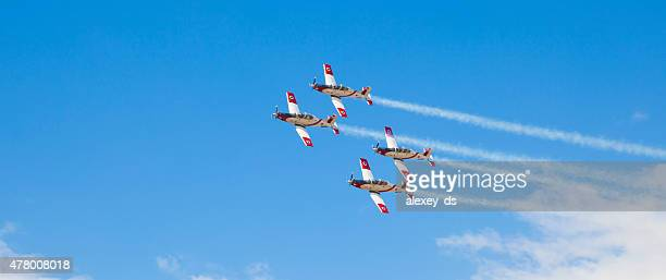 Fighters in sky during air show on Israel Independance Day
