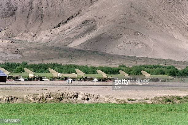 7 fighters jets chinese copies of the russian MIG21 are pictured at Gonggar airport on June 15 in Tibet autonomous region During the recent border...