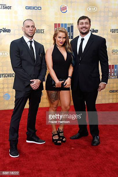 MMA fighters Joe Schilling Anastasia Yankova and Matt Mitrione attend Spike TV's 10th Annual Guys Choice Awards at Sony Pictures Studios on June 4...