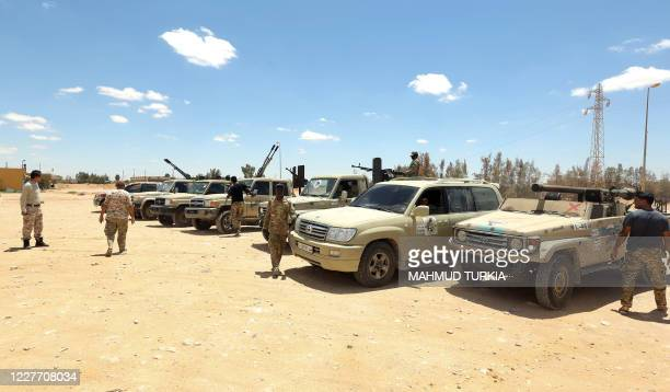 Fighters loyal to the UN-recognised Libyan Government of National Accord secure the area of Abu Qurain, half-way between the capital Tripoli and...