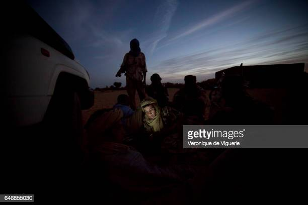 Fighters of the MNLA in Tessit in the Gao region southeastern Mali The MNLA are an armed Tuareg political movement who are seeking independence or...