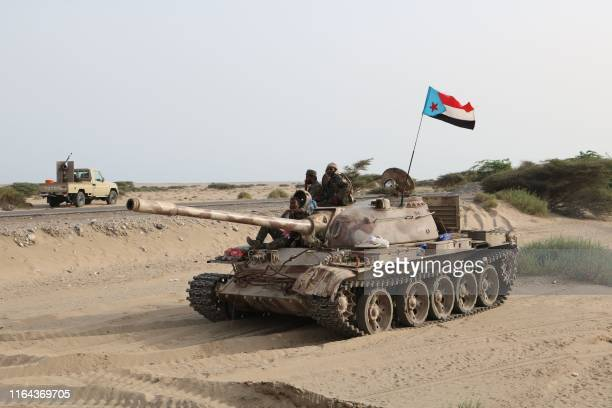 Fighters of the UAE-trained Security Belt Force, dominated by fighters of the the Southern Transitional Council which seeks independence for south...