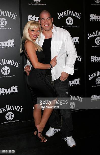 UFC fighterTito Ortiz and Jasmine Fiore attend the Stuff Magazine Jack Daniels Kentucky Derby party held at Jillians on May 5 2006 in Louisville...