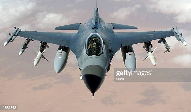 US Air Force USAF F-16 Fighting Falcon fighter Iraqi Freedom II 8x12 Photograph