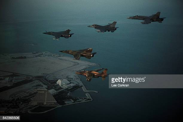 Fighting Falcons Leave on a Mission Against Iraq