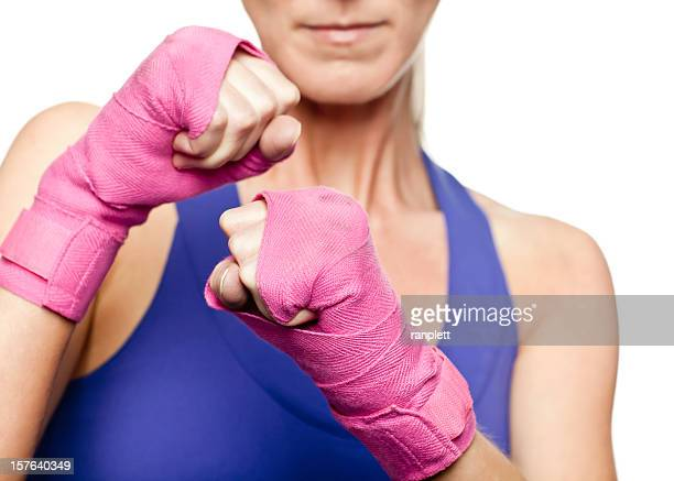 fighting for breast cancer awareness - fight stock photos and pictures