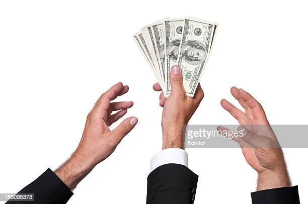 fighting for money