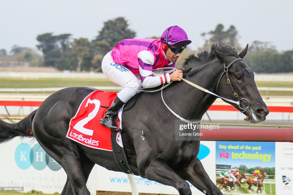 Fighting Harada ridden by Michael Walker wins the Ladbrokes SV 2YO Maiden Plate at Sale Racecourse on May 15, 2018 in Sale, Australia.