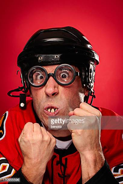 fighting hockey player - funny boxing stock photos and pictures
