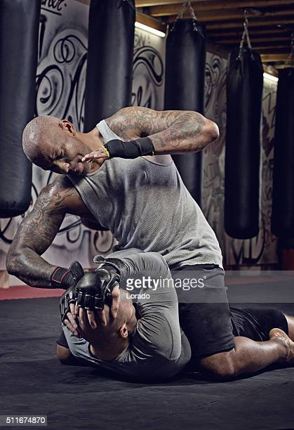 mma fighting - mixed martial arts stockfoto's en -beelden