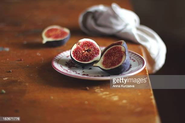 Figs in plate