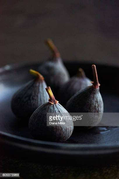 Figs on black plate
